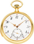 Timepieces:Pocket (post 1900), Swiss Gold Minute Repeating Pocket Watch, circa 1912. ...