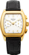 "Timepieces:Wristwatch, Paul Picot ""Firshire"" Ref. 120 Gold Limited Edition Chronograph. ..."