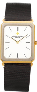 Timepieces:Wristwatch, Vacheron Constantin Ultra-Thin Ref. 33079B Two Tone GoldWristwatch. ...