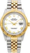 "Timepieces:Wristwatch, Rolex Ref. 16263 Two Tone ""Turn-O-Graph Oyster Perpetual, circa1995. ..."
