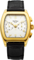 "Timepieces:Wristwatch, Paul Picot ""Firshire"" Gent's Gold Limited Edition Chronograph, No.37. ..."