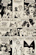 Original Comic Art:Panel Pages, George Perez and Romeo Tanghal The New Teen Titans #4 StoryPage 24 Original Art (DC, 1981)....