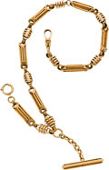 Timepieces:Watch Chains & Fobs, Fine & Ornate Large Gold Watch Chain, circa 1880's. ...