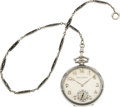Timepieces:Pocket (post 1900), Patek Philippe & Co. White Gold & Enamel Watch & Chain,circa 1925. ...