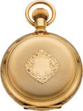 Timepieces:Pocket (pre 1900) , Waltham Choice Gold 18 Size Hunters Case, circa 1890. ...