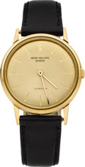 Timepieces:Wristwatch, Patek Philippe Ref. 3416 Fine Yellow Gold Wristwatch For Gubelin, circa 1965. ...