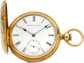 Timepieces:Pocket (pre 1900) , E. Howard & Co. 18k Gold Series III With Coles Escapement,circa 1868. ...