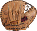 Baseball Collectibles:Others, 1940's Bruce Edwards Game Used Catcher's Mitt. ...