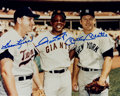 Baseball Collectibles:Photos, Killebrew, Mays and Mantle Multi Signed Photograph....