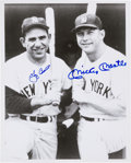 Baseball Collectibles:Photos, Yogi Berra and Mickey Mantle Dual Signed Photograph....