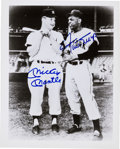 Baseball Collectibles:Photos, Willie Mays and Mickey Mantle Dual Signed Photograph....