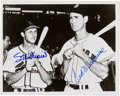 Baseball Collectibles:Photos, Stan Musial and Ted Williams Dual Signed Photograph....