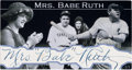 Autographs:Sports Cards, Signed Mrs. (Clare) Babe Ruth Custom Cut 1/1 Card. ...