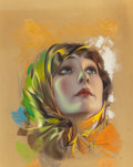 Pin-up and Glamour Art, ROLF ARMSTRONG (American, 1889-1960). Betty Blythe, Photoplaymagazine cover, September 1921. Pastel on board. 18 x 14 i...