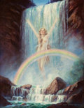 Pin-up and Glamour Art, MABEL ROLLINS HARRIS (American, 20th Century). RainbowFalls. Oil on canvas. 32 x 24.75 in.. Signed lower right. ...