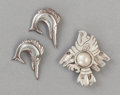 Silver Smalls:Other , THREE WILLIAM SPRATLING MEXICAN SILVER SWEATER CLIPS . William Spratling, Taxco, Mexico, circa 1933. Marks: WS (conjoine... (Total: 3 Items)