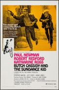 "Movie Posters:Western, Butch Cassidy and the Sundance Kid (20th Century Fox, 1969). OneSheet (27"" X 41"") Style B. Western.. ..."