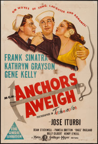 "Anchors Aweigh (MGM, 1945). Australian One Sheet (27"" X 40""). Musical"