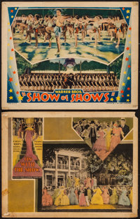 """On with the Show! & Other Lot (Warner Brothers, 1929). Lobby Cards (2) (11"""" X 14""""). Musical. ... (Tota..."""