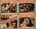"Movie Posters:Crime, Scotland Yard (Fox, 1930). Title Lobby Card & Lobby Cards (3)(11"" X 14""). Crime.. ... (Total: 4 Items)"