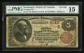 National Bank Notes:District of Columbia, Washington, DC - $5 1882 Brown Back Fr. 474 The Riggs NB Ch. # (E)5046. ...