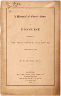 Books:Religion & Theology, Nathaniel Hall. A Memorial of Edward Everett: A Discourse Preached in the First Church, Dorchester. Boston: Walker, ...