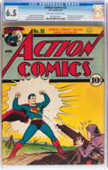 Golden Age (1938-1955):Superhero, Action Comics #35 (DC, 1941) CGC FN+ 6.5 Off-white to white pages....