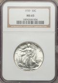 Walking Liberty Half Dollars: , 1939 50C MS65 NGC. NGC Census: (1123/1008). PCGS Population(1672/1378). Mintage: 6,820,808. Numismedia Wsl. Price for prob...