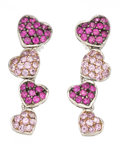 Estate Jewelry:Earrings, Pink Sapphire, White Gold Earrings. ...