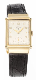 Timepieces:Wristwatch, Retro Style Lord Elgin 14k Gold Wristwatch. ...