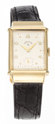 Retro Style Lord Elgin 14k Gold Wristwatch