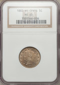 Liberty Nickels: , 1883 5C No Cents MS65 NGC. NGC Census: (1870/533). PCGS Population(1418/390). Mintage: 5,479,519. Numismedia Wsl. Price fo...