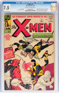 Silver Age (1956-1969):Superhero, X-Men #1 (Marvel, 1963) CGC VF- 7.5 Cream to off-white pages....