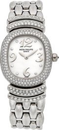Timepieces:Wristwatch, Patek Philippe Ref. 4831/11 Lady's White Gold, Diamond & Mother-of-Pearl Wristwatch. ...