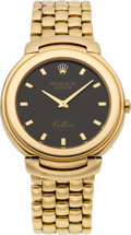 Timepieces:Wristwatch, Rolex Ref. 6623 Gent's Gold Cellini, circa 1990's. ...