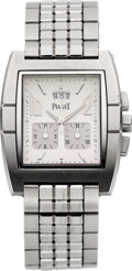 "Timepieces:Wristwatch, Piaget Ref. 27150 ""Upstream"" Stainless Steel Chronograph DeployantBezel Clasp. ..."