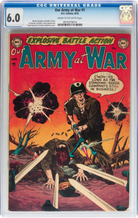 Our Army at War #1 (DC, 1952) CGC FN 6.0 Cream to off-white pages