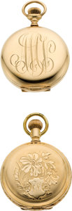 Timepieces:Pocket (post 1900), Two Waltham 14k Gold O Size Hunters Case Pocket Watches. ...(Total: 2 Items)