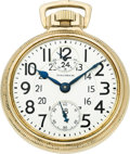 Timepieces:Pocket (post 1900), Waltham 23 Jewel Crescent St. Wind Indicator, circa 1919. ...