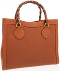 Luxury Accessories:Bags, Gucci Brown Leather Tote Bag with Bamboo Handles. ...