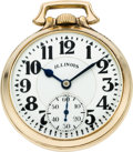 Timepieces:Pocket (post 1900), Illinois 21 Jewel 161A Elinvar Sixty Hour Bunn Special. ...