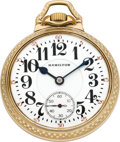 Timepieces:Pocket (post 1900), Hamilton 21 Jewels, Grade 992 16 Size Railroad, Circa 1931. ...