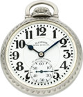 Timepieces:Pocket (post 1900), Illinois 21 Jewel 161 Sixty Hour Bunn Special Marked Dial. ...