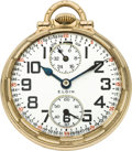 Timepieces:Pocket (post 1900), Elgin 23 Jewel Veritas Wind Indicator, circa 1920. ...