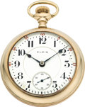 Timepieces:Pocket (post 1900), Elgin 23 Jewel 18 Size Veritas, circa 1906. ...