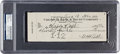 Autographs:Checks, 1942 Babe Ruth Signed Check Issued to His Wife. ...