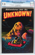 Golden Age (1938-1955):Horror, Adventures Into The Unknown #2 (ACG, 1948) CGC VF- 7.5 Cream tooff-white pages....