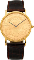 Timepieces:Wristwatch, Corum $20 Gold Coin Wristwatch. ...