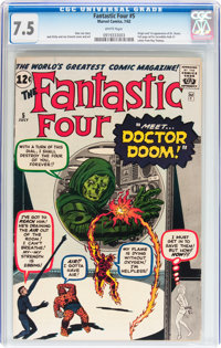 Fantastic Four #5 (Marvel, 1962) CGC VF- 7.5 White pages