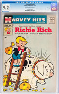 Silver Age (1956-1969):Humor, Harvey Hits #3 Richie Rich - File Copy (Harvey, 1957) CGC NM- 9.2Cream to off-white pages....